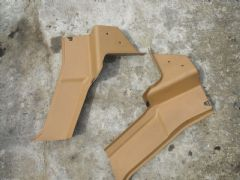 MAZDA MX5 EUNOS (MK1 1989 - 97) TAN SEAT BELT TOWER TRIM COVERS / PANELS  PAIR